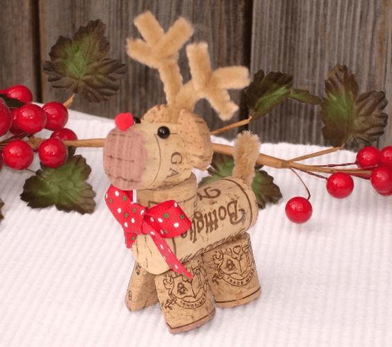 decoração de natal feita de rolha