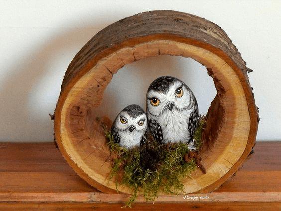 35 Ideias de decoração e brincadeiras com pedras pintadas