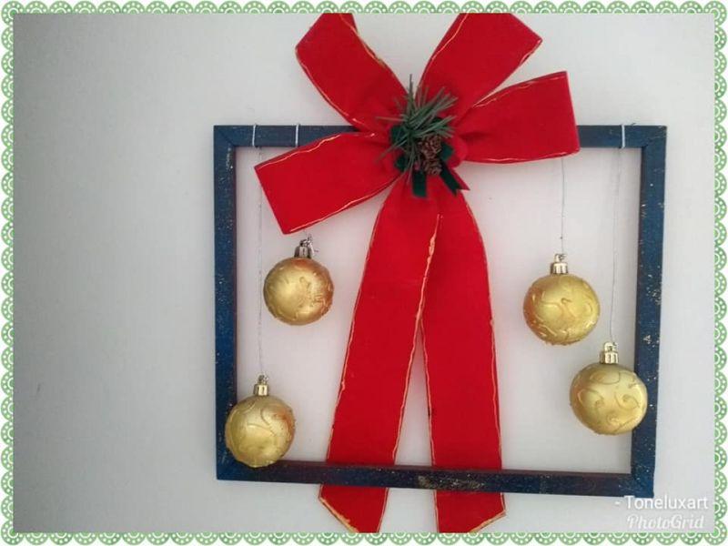 molduras velhas reciclagem natal