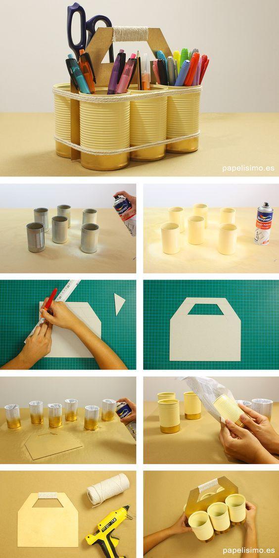 Ideias de reaproveitamento de latas