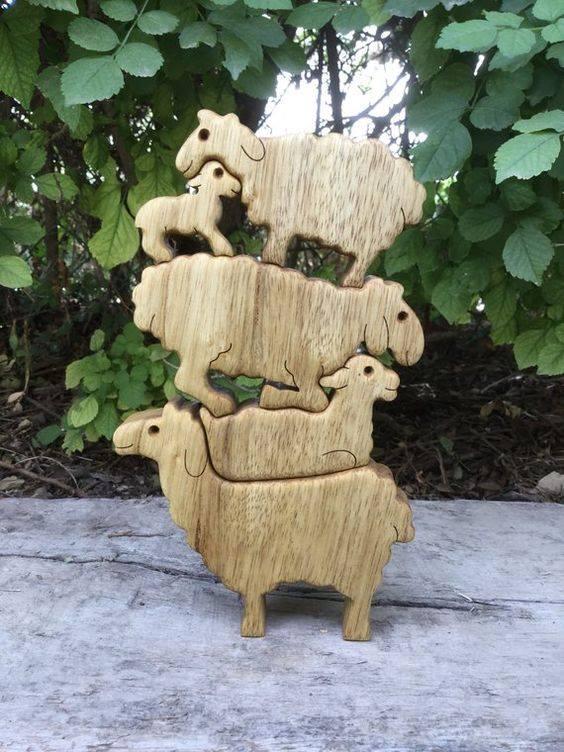 arte criativa em madeira