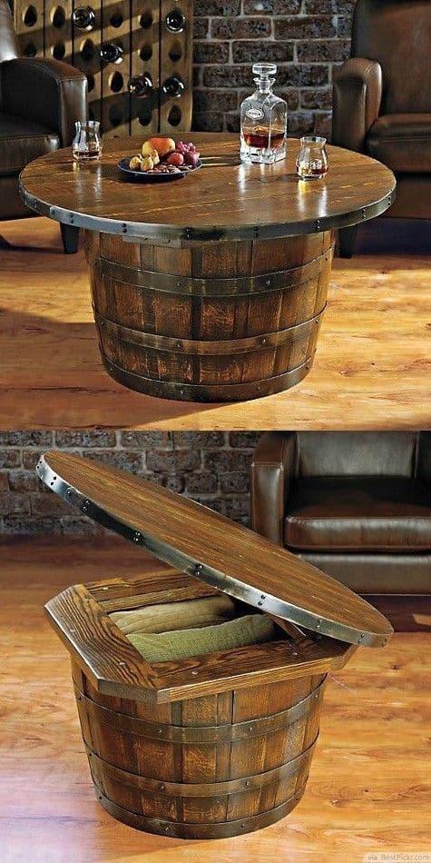 barril na decoração
